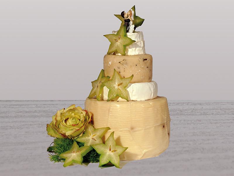 Ulrike Baumann's Hochzeitstorten aus Käse