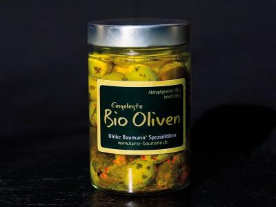 Eingelegte Bio-Oliven