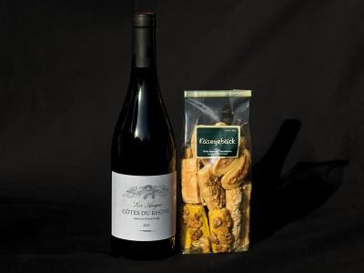 Käsegebäck-Wein Duo